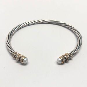David Yurman HELENA Diamonds Pearls 18K Bracelet